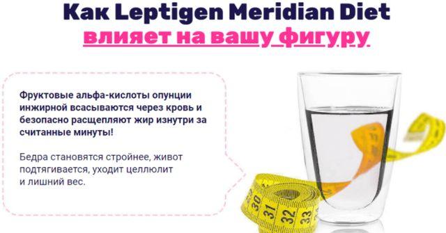 Исследования Leptigen Meridian Diet